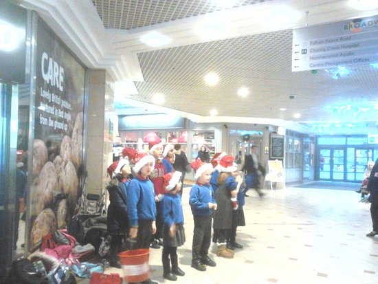 london uk hammersmith school kids sing at christmas