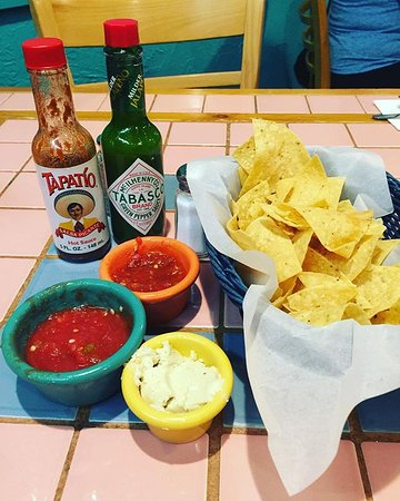 El Charro Mexican Dining: Chips, salsa, and dip.