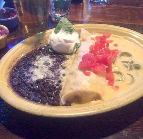El Charro Mexican Dining : Jalapeno chicken enchilada and black beans