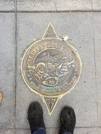 Barbary Coast Trail: Medallions lead your way