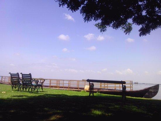 Punnamada Resort: View from garden