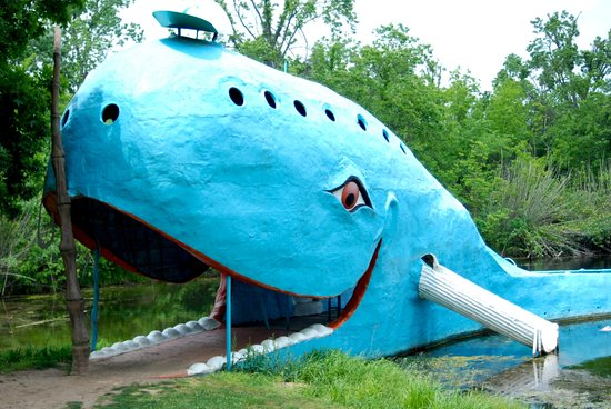 Oklahoma's Top Attractions Along Route 66: Blue Whale. Photo by Lisha Newman.