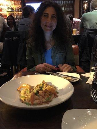 CIRCA at Dupont: Mushroom flatbread, Hummus and Shrimp & Grits!