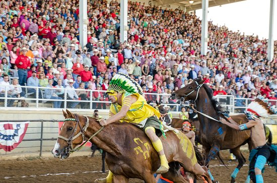 Indian Relay at the Sheridan WYO Rodeo