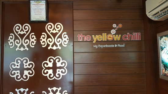 The Yellow Chilli: The entrance