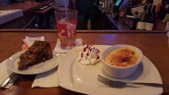 Rensselaer, Estado de Nueva York: Pumpkin cheesecake and cream brulee