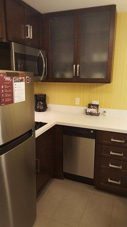 Murfreesboro, TN: Kitchen - with 2 burner electric stove, microwave, dishwasher & refrigerator