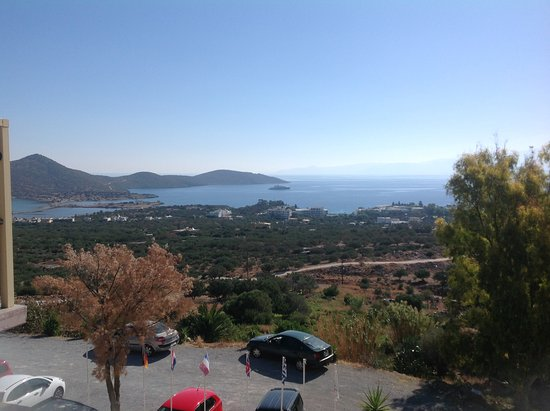 Elounda Residence: View from dining room/bar