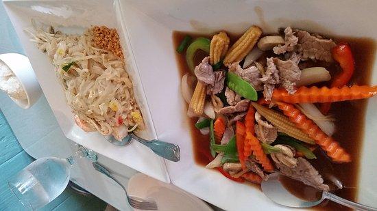 Basil Thai Cuisine: Beef Ginger & Pad Thai