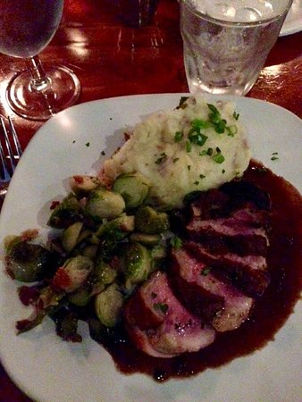 Ketchum, ID: Duck with Garlic Mashed and Vegetables