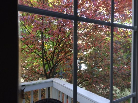 The Chadwick Bed & Breakfast: The Baxter's balcony in October