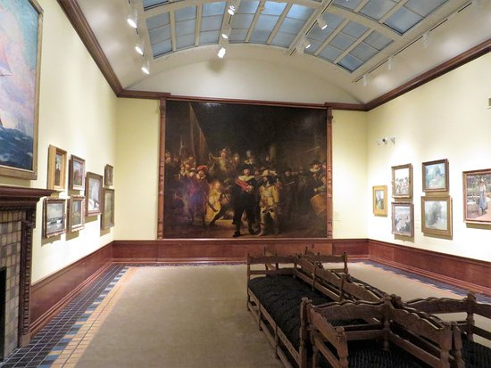 Canajoharie, NY: The painting gallery features a copy of Rembrandt's The Night Watch