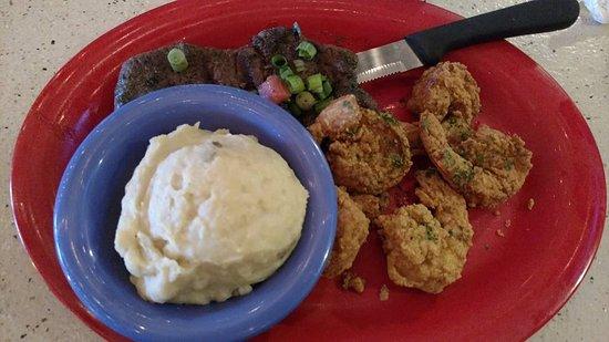 Scampy's Seafood Steak: steak and shrimp