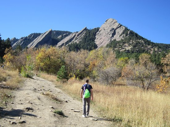 Boulder, CO: The path leading into the Flatirons.