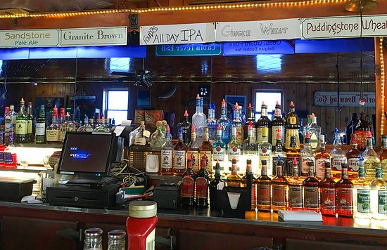 Grand Marais, MI: The drink selection at Dunes Saloon