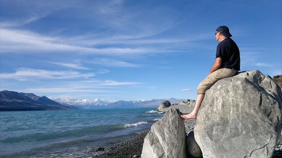 Canterbury, Selandia Baru: Looking over Lake Pukaki