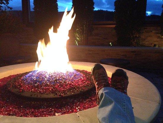 Ameristar Casino Resort Spa Black Hawk: rooftop deck - 1 of two firepits