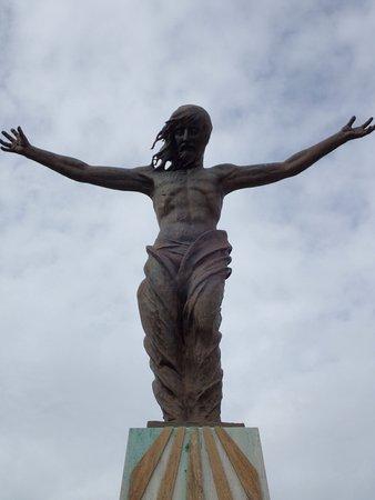 Santuario della Madonna dello Splendore : One of the many outside sculptures