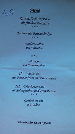 Brixen im Thale, Austria: Abendmenü