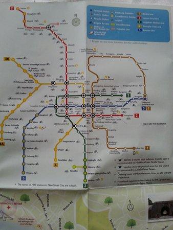 I vari percorsi Picture of Taipei Metro System Zhongshan District