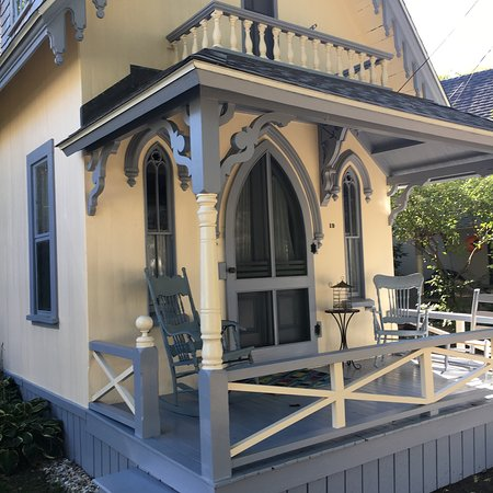 Oak Bluffs, MA: Private homes at Cottage Museum compound