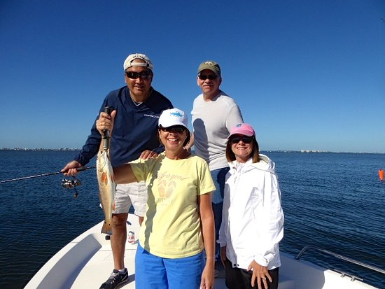 Reelin & Chillin Charters Inc - Private Sails: Red Fish - our surprise of the day. Sarasota Bay with Reelin' & Chillin'