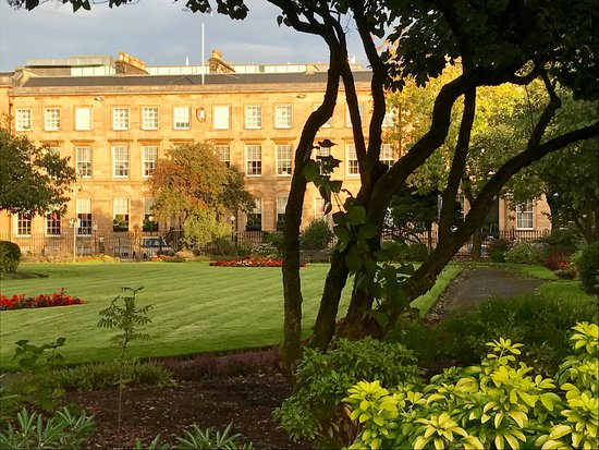 Blythswood Square: View across garden