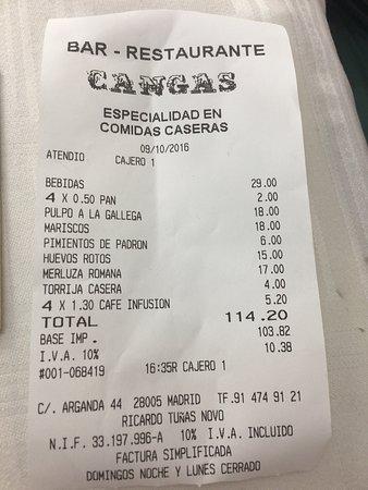 Restaurante cangas fotograf a de restaurante cangas madrid tripadvisor - Restaurante el jardin pedraza ...