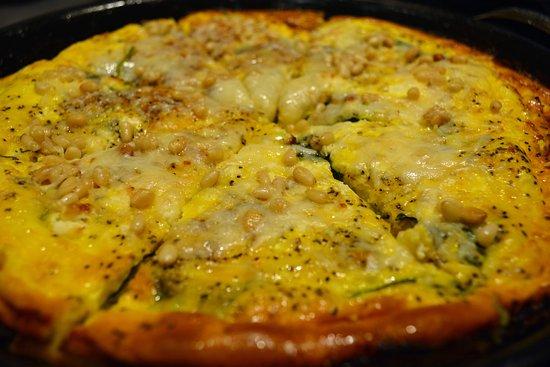 Granville, OH: Meat lovers frittata w/maple glazed bacon, Italian sausage, and prosciutto di Parma
