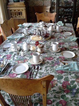 L'Islet, Canada: A beautiful table set for breakfast