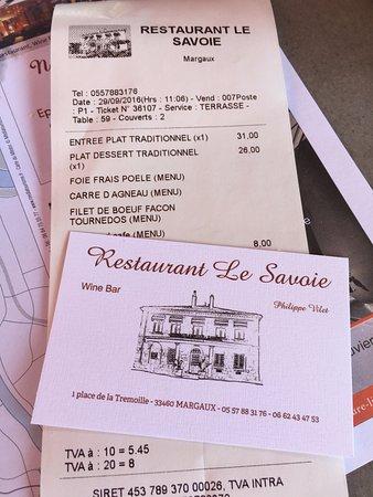 Margaux, Prancis: Счет