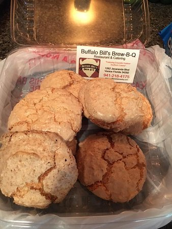 buffalo bill s brew b q restaurant catering world famous coconut macaroons