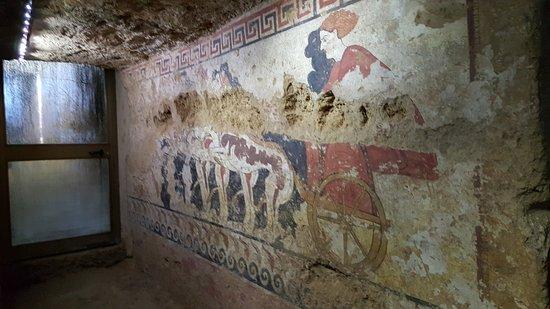 Sarteano, Italia: la quadriglia formata da due leoni e due grifoni