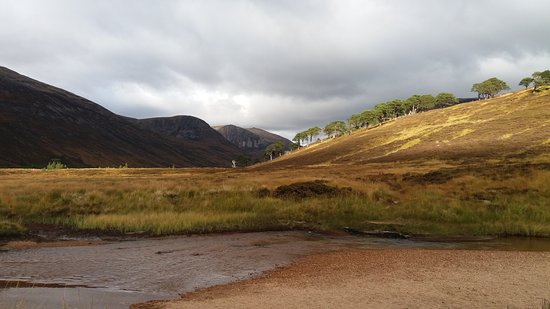 Badenoch and Strathspey, UK: Looking North along Glen Derry from Derry Dam, Cairngorms