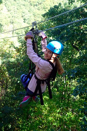 Barnardsville, NC: My Daughter having a fantastic time!