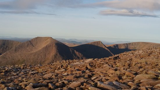 Aviemore and the Cairngorms, UK : View Westward from Summit Ben Macdui, Cairngorms