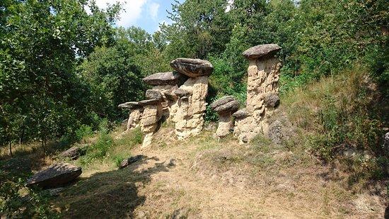 Villar San Costanzo, Italy: Funghi di pietra giganti
