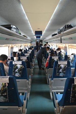 KTX (Korea Train Express) : Cosy interior