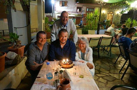 Prines, Greece: Birthday Celebration