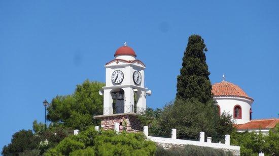 Ciudad de Skiathos, Grecia: Sett från hamnen