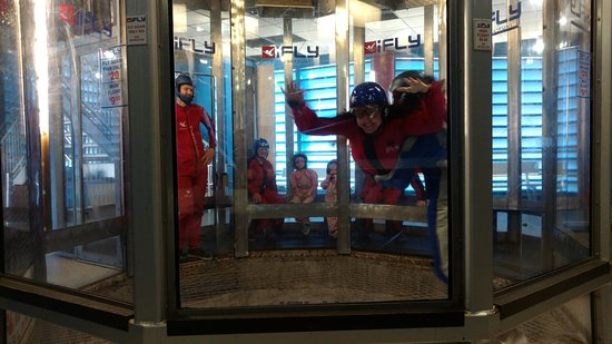 iFLY Orlando: Most of the time, you are low like this - being steadied by the guy who trained you.