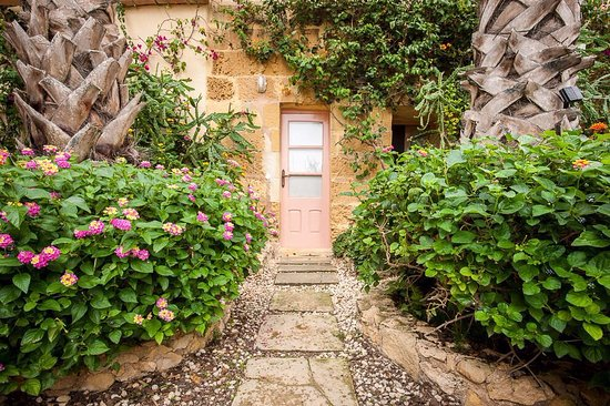 Munxar, Malta: Part of the private garden of one of the suites.