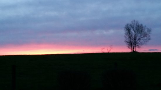 Rabbit Creek Bed and Breakfast : Beautiful Bluegrass Sunset seen from Rabbit Creek Bed & Breakfast
