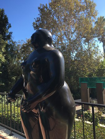 Beverly Hills, CA: a Botero sculpture in the garden
