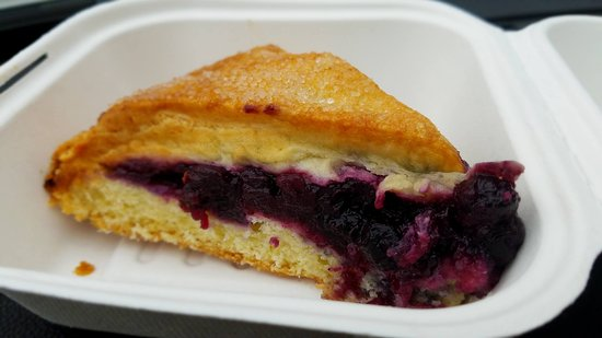 Cambridge, Nova York: blueberry scone