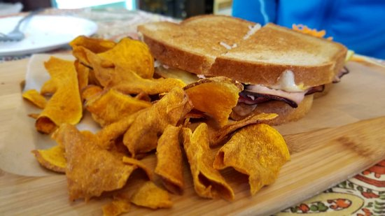Cambridge, NY: ham and swiss sandwich