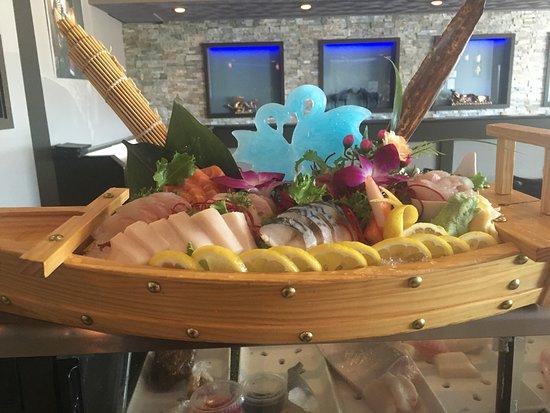Johnston, RI: how pretty  sashimi for two!