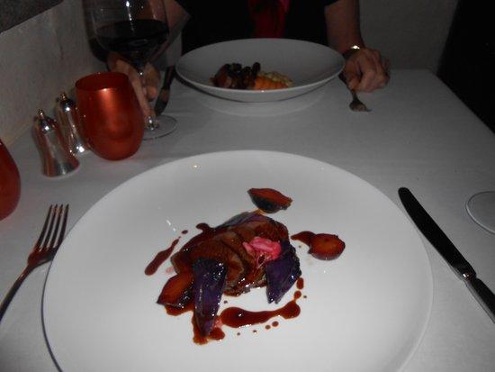 Dax Restaurant: venison and lamb mains
