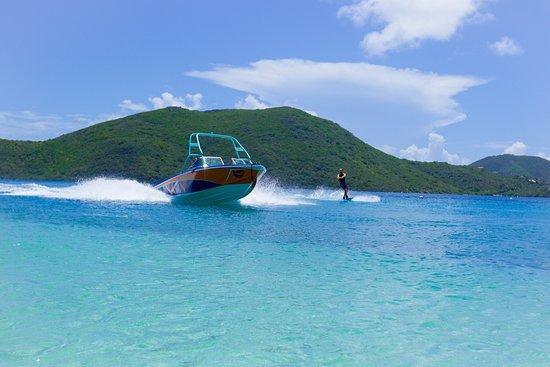 Spanish Town, Virgin Gorda : Wakeboarding, waterskiing, wake surfing in paradise!