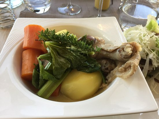 Ploeuc-sur-lie, France: See earlier review: here are photos of the parsnip soup with foie gras, the canard pot de feu an